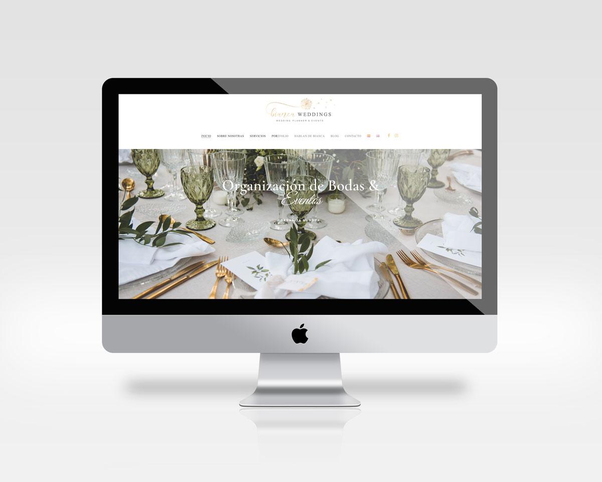 diseno web weddings planner