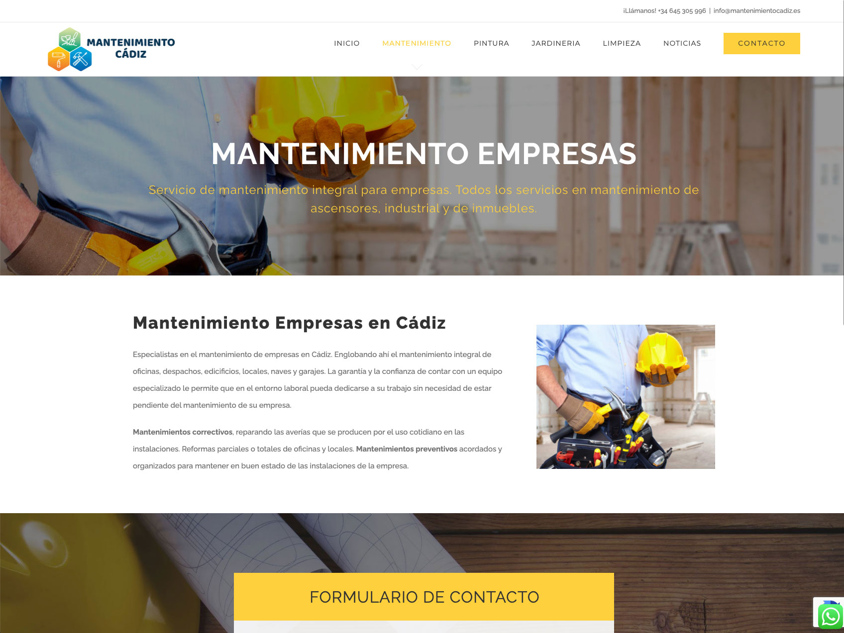 diseno web mantenimiento cadiz