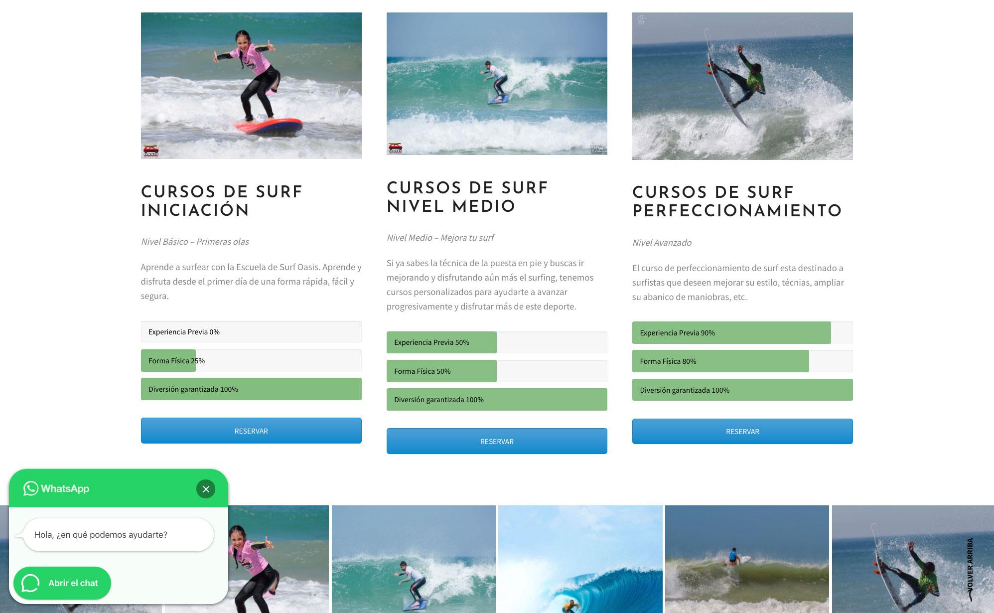 diseno web escuela surf