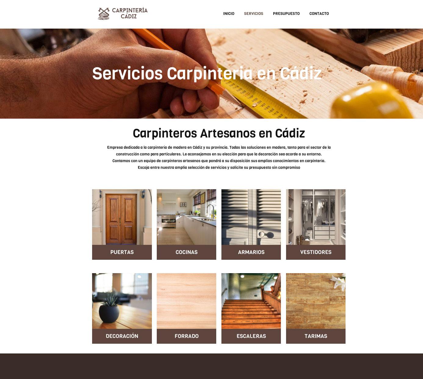 diseno web carpinteria